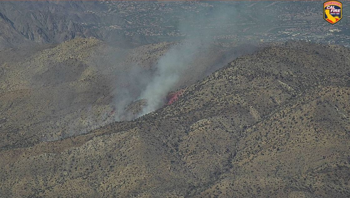 Small fire sparks off CA-74 in Pinyon Pines
