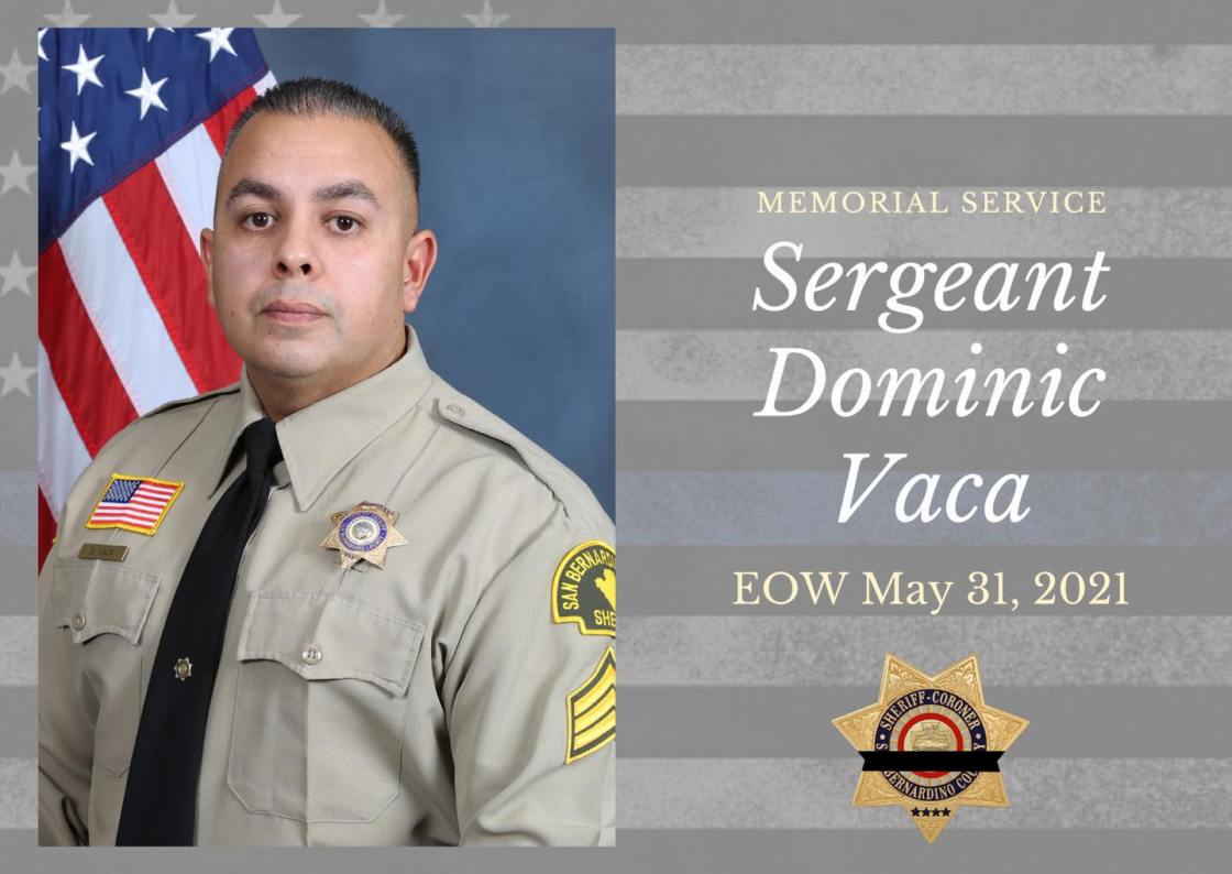 Memorial service taking place Friday for Sergeant killed by pursuit suspect in Yucca Valley