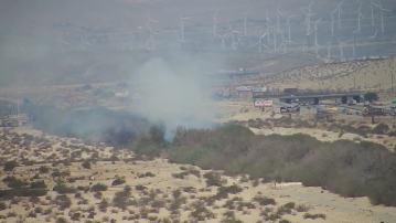 Tamarisk Tree fire sparks near I-10 and Bob Hope in Cathedral City