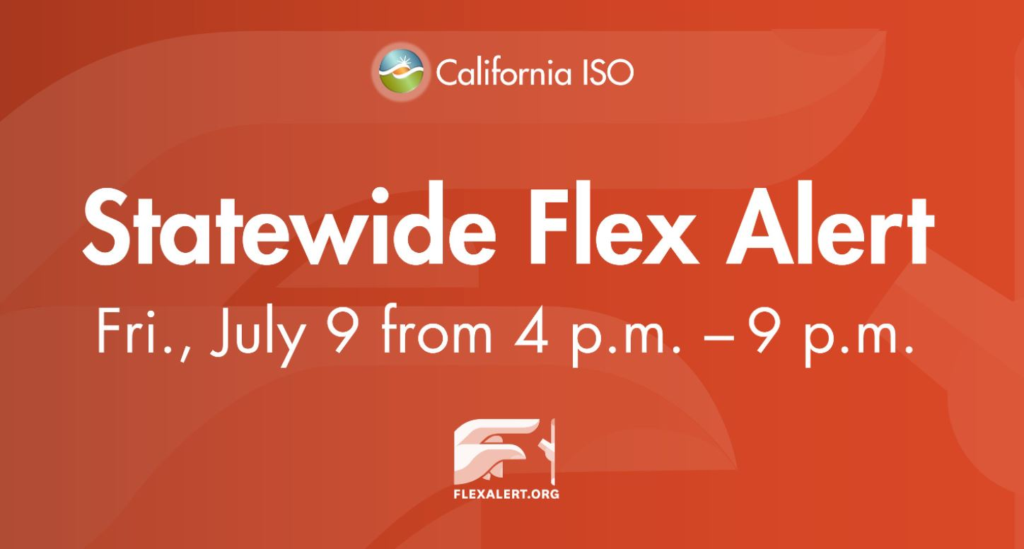 California ISO issues statewide Flex Alert for Friday
