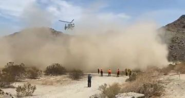 Hiker overwhelmed by heat airlifted from Palm Springs trail