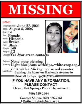 Desert Hot Springs family seeks help finding missing 14-year-old