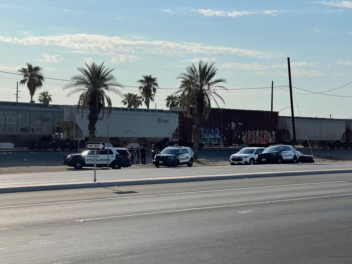 Pedestrian killed by train in Indio