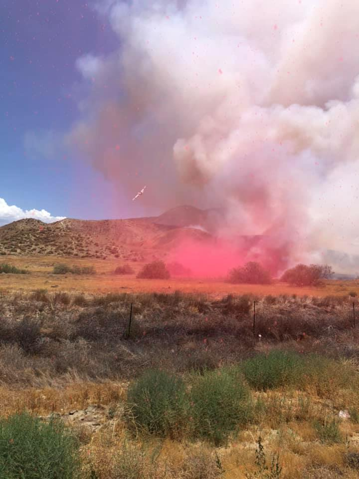 Blaze Chars 45 Acres in Badlands East of Moreno Valley