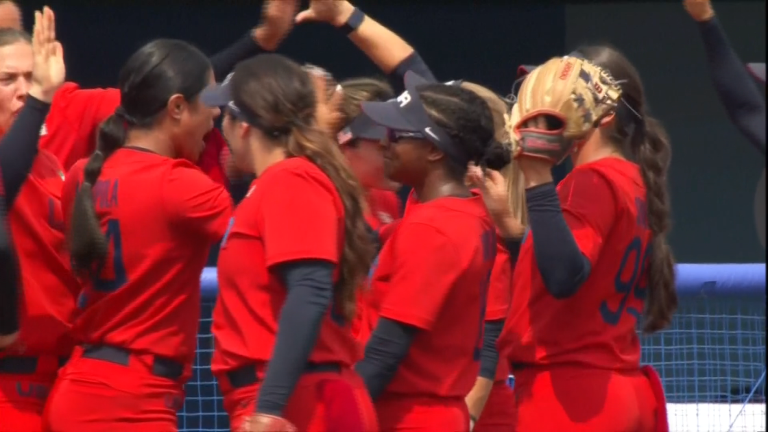 Softball Back in the Olympics, Beats Italy to Earn First Win for Team USA