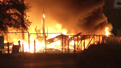 Fire in Indio burns gas station under construction