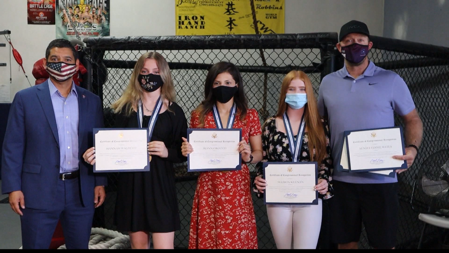 Rep. Raul Ruiz Gives Congressional Honor to Desert Hot Springs Youth MMA Fighters
