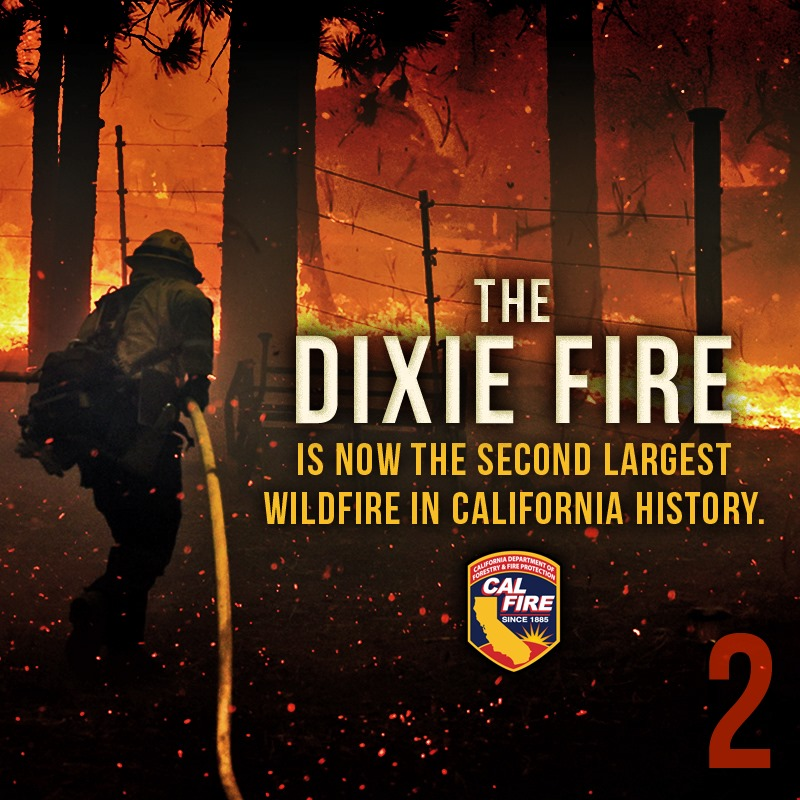 'We're seeing truly frightening fire behavior' say firefighters battling the Dixie Fire