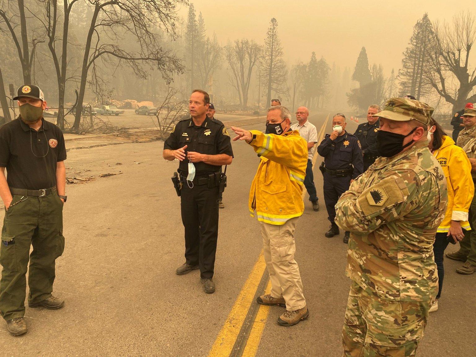 Cal OES Officials Tour Dixie Fire Devastation