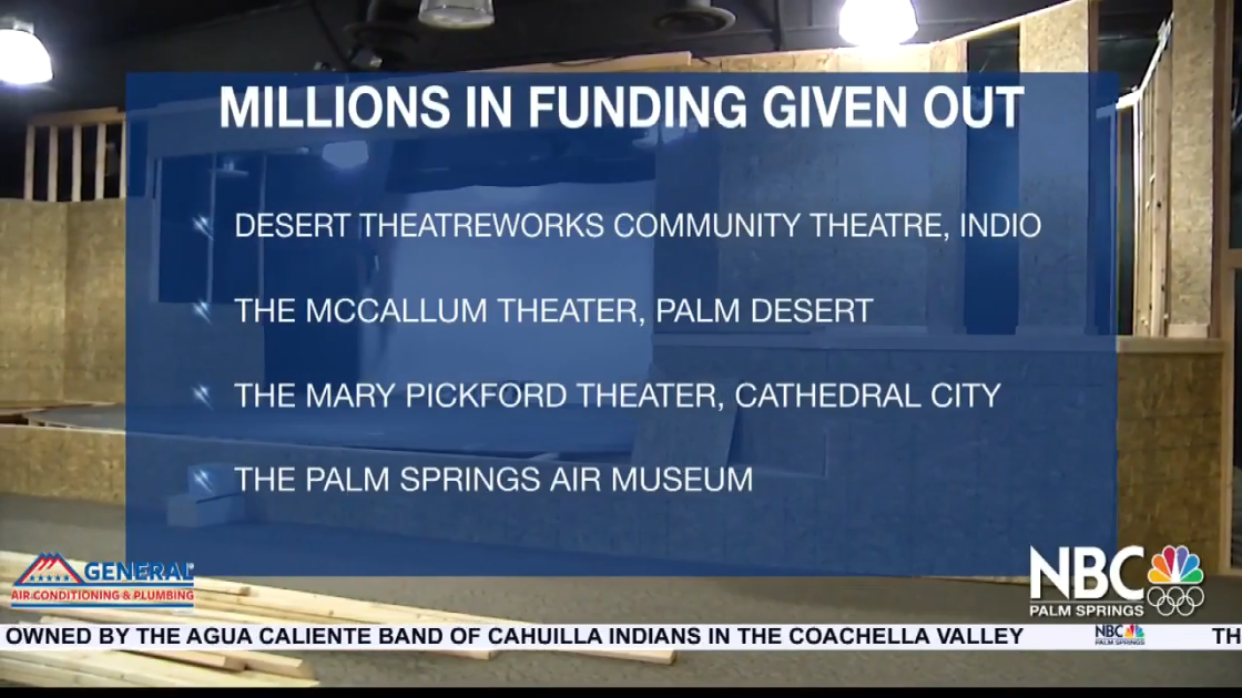Coachella Valley Theaters Receive Portion of $19 Million in COVID Relief Funds