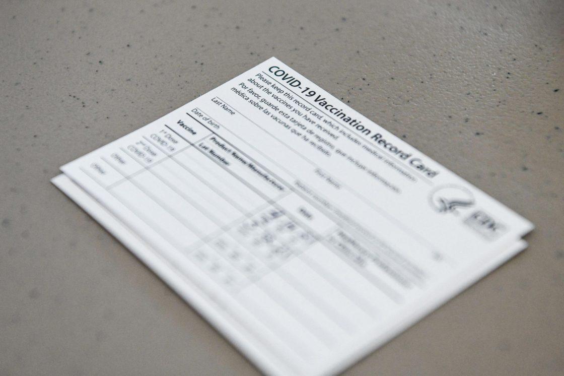 Vaccine Card (CHANDAN KHANNA/AFP/Getty Images 18 Aug 21)