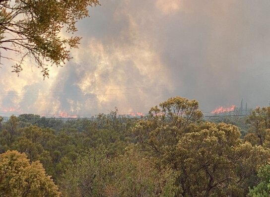 `Rock Fire' in Anza Believed to Be Man-Made