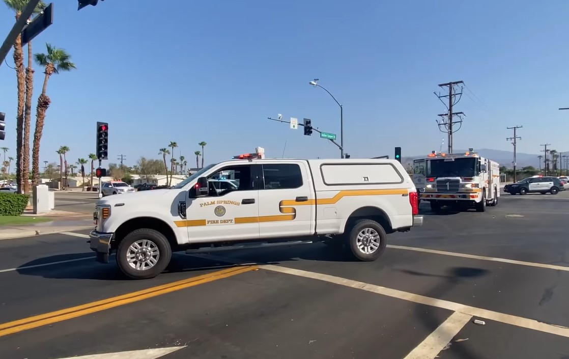 Motorcyclist in Critical Condition After Collision in Palm Springs