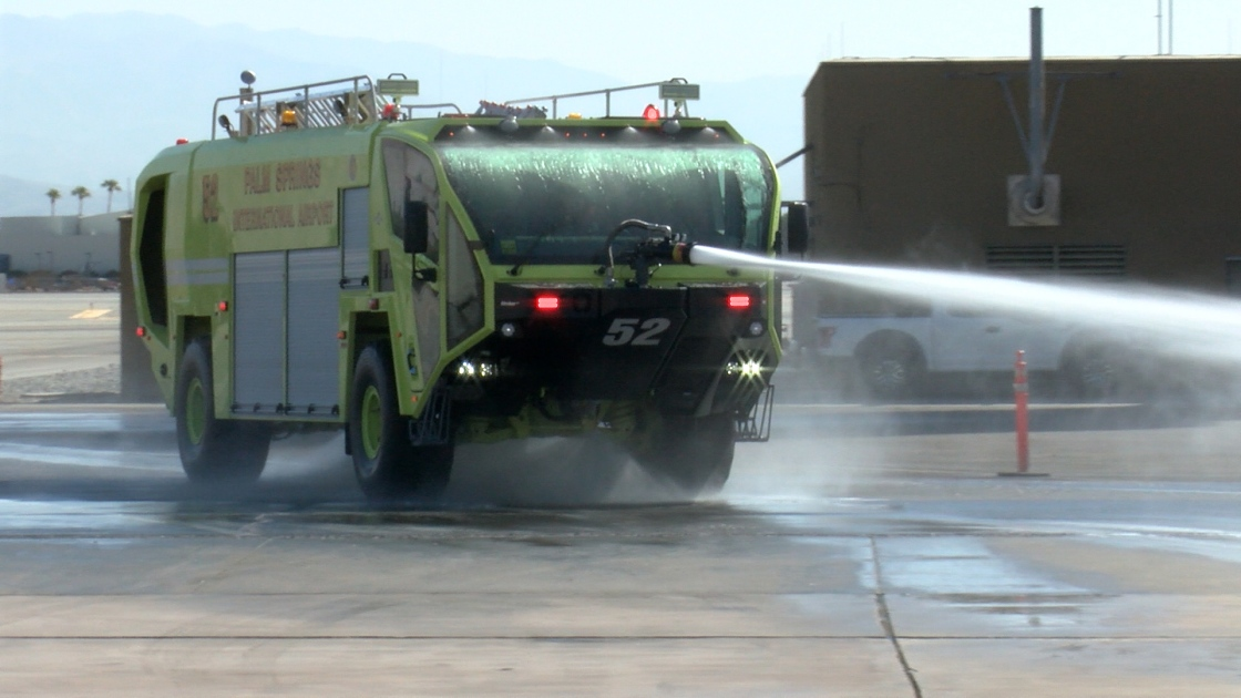 Palm Springs Fire Department Debuts New Aircraft Rescue Vehicles