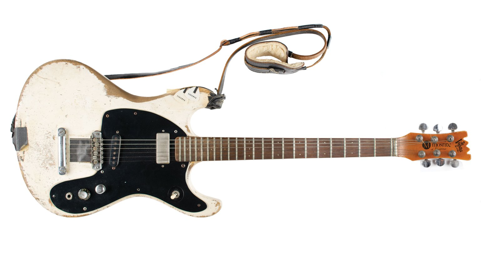 A scratched-up piece of New York punk rock history — Johnny Ramone's guitar — is up for auction
