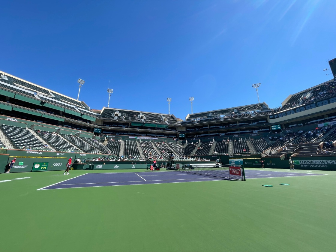 Where did the line judges go? BNP Paribas Open first to use electronic line judges on all courts