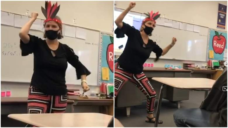 """Riverside Unified School District Teacher Suspended After Viral Video """"Performing"""" A Native American War Dance."""